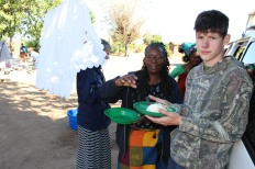 Peter & Elizabeth sharing Ncima